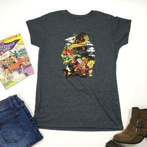 Nintendo   Grey Mario Short Sleeve Tee Shirt